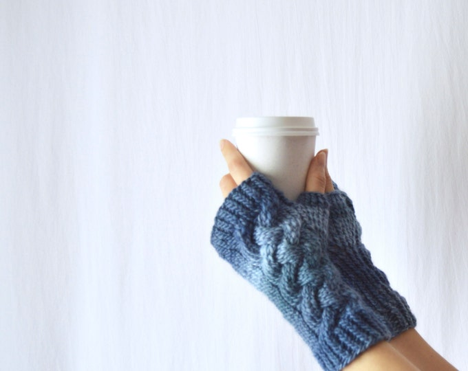 DISCONTINUED Blue Hand Warmers, Knotted Up