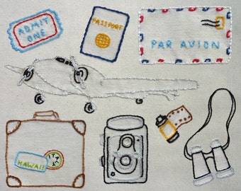 World Traveler Embroidery Pattern. Classic Series.