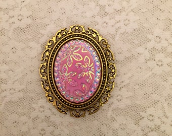 Shawl Pin, Magnetic Brooch-Sparkling Floral, Stars