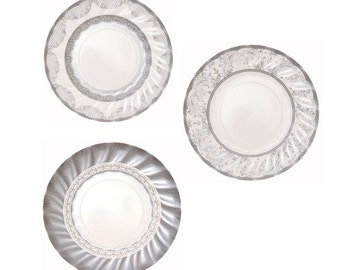 12 Silver paper plates- Charm, Christmas or New years eve party