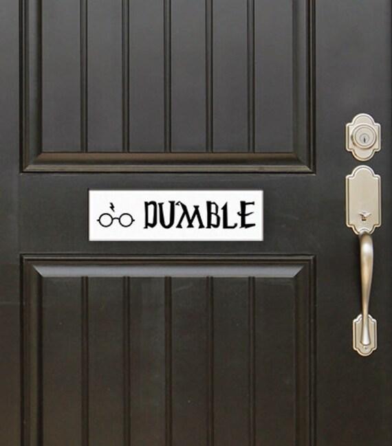 ?zoom & Harry Potter Dumble Door Sign