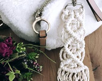 Cotton Macrame - Pendant for Keys & Bags