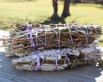 Lavender Sage Peace Smudge Stick, Lavender & White Sage Smudge, Shaman Smudge Bundle, Lavender Sage Wand, Dried Lavender Natural Incense