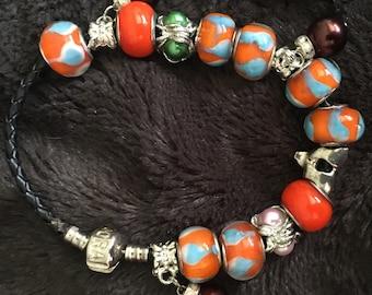 Orange Style Glass Beads