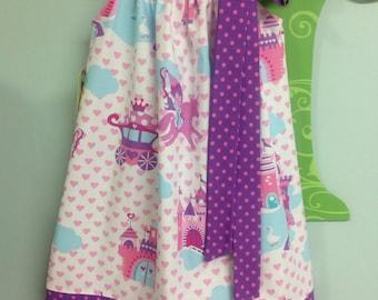 Ready to Ship! Size 4 Fairytale Castle Pillowcase Dress
