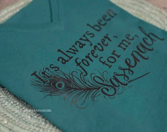 Outlander Voyager Quote Ladies  Triblend Shirt