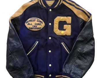 Vintage 1960s Varsity Letterman Jacket Mens Size Large