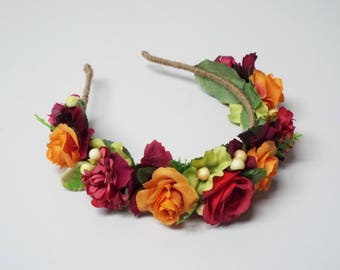 Vibrant floral headpiece