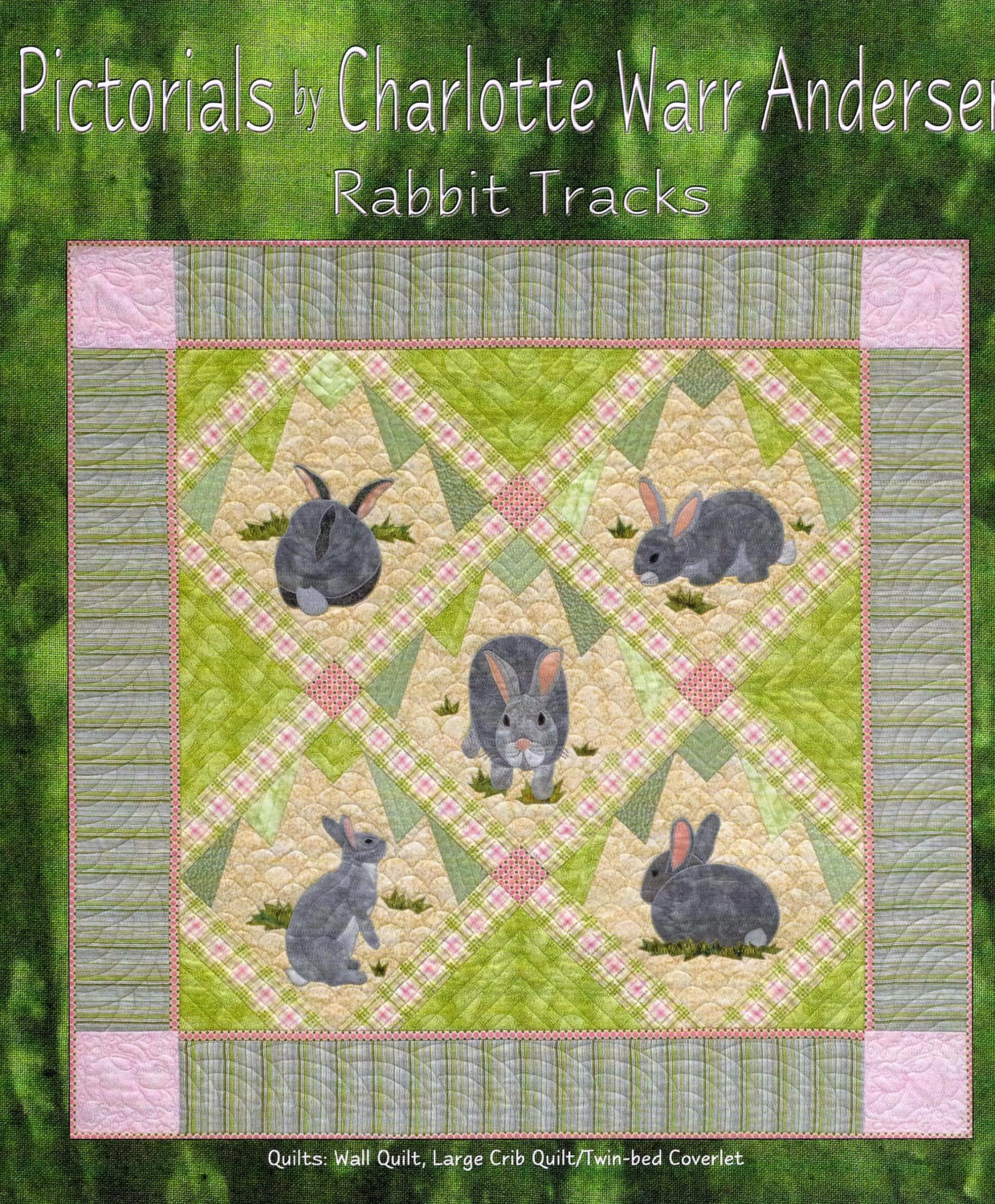 Quilt Pattern, Rabbit Tracks, Spring Decor, Easter Decor, Bunny Wall ...
