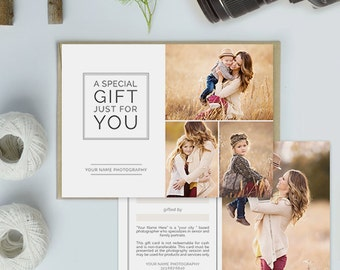 Photography Studio Gift Certificate Template, Photography Gift Card Template - GCT105A
