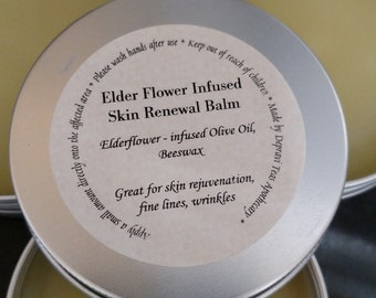 Elder Flower Infused Skin Renewal Salve with Elder flower infused oil, 2oz