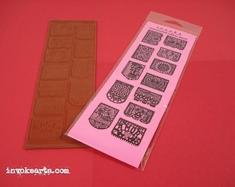 Papel Picados / Invoke Arts Collage Rubber Stamps / Unmounted Stamp Set