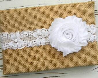 White Chiffon Headband - White Lace Headband - Baby White Headband