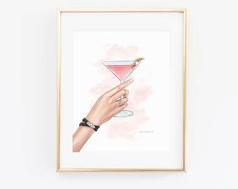Martini Cosmopolitan // Digital Download 11x14 // Resizable for 4x6, 5x7, 8x10