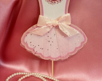 Mini Ballerina Tutu Cupcake Toppers - HANDMADE