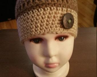 Crochet Acorn Child Hat