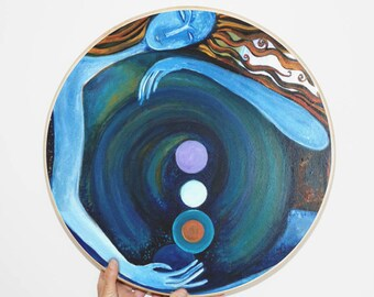Shamanic Drum - Gaia. Spiritual Art