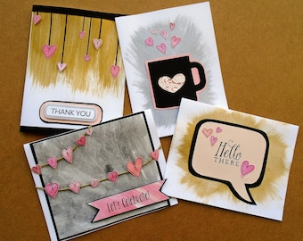 Little Hearts Greeting Cards | Set of 4