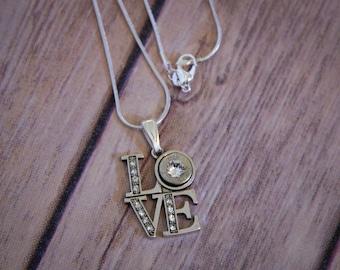 9mm Bullet Love Pendant Necklace