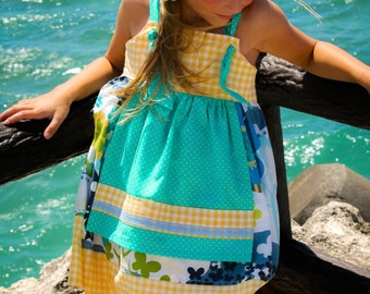 "Girls Dress Pattern, Knot Dress Pattern, PDF Sewing Patterns, Easy Dress Pattern, Dress Patterns, Baby Dress Patterns, 6m-12 ""Ava Dress"""