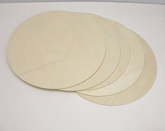 "5 large Wooden 10"" Circles 1/8"" thick unfinished DIY"