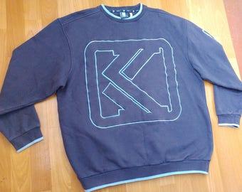 KARL KANI sweatshirt, vintage blue hoodie of 90s hip-hop clothing, 1990s hip hop shirt, og gangsta rap, Kani shirt, old school, size L Large