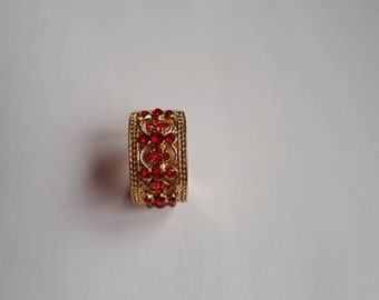Gryffindor Inspired crest ring red jewel