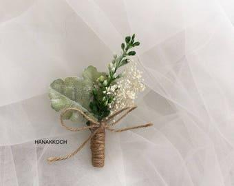 Boutonniere / Buttonhole / Corsage / Wedding Boutonniere / Wedding Buttonhole / Wedding Corsage / Groomsman / Groomsmen Accessories