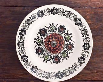 Kathie Winkle Ironstone plate | MCM | dessert plate | small plate