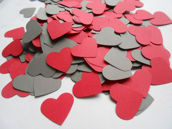 1000 Confetti Hearts. 1 inch. CHOOSE YOUR COLORS. Custom Orders Welcome.  Weddings, Showers, Decoration.