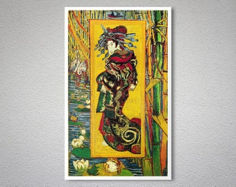 The Courtesan (after Eisen) by Vincent Van Gogh - Poster Paper, Sticker or Canvas Print / Gift Idea