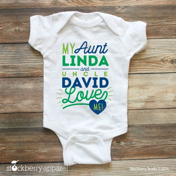 My aunt and uncle love me shirt custom baby clothes name i my aunt and uncle love me shirt custom baby clothes name i love my aunt baby bodysuit personalized baby shower gift i love my auntie negle Gallery