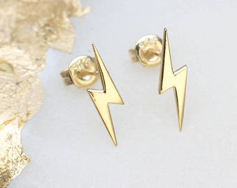 Gold or Silver Mini Starbolt Earrings (HBE101)