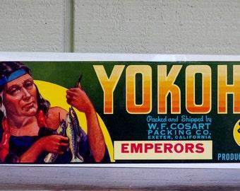 Vintage Yokohl Brand Produce Emperors  Crate Label