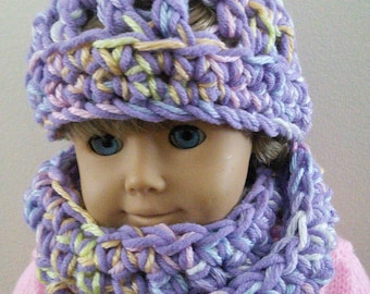 Dolly's infinity scarf and hat