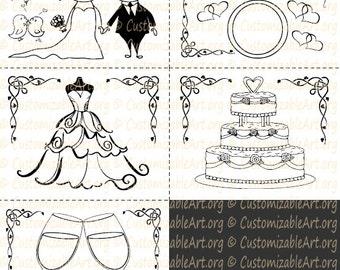 Wedding Coloring Book Kids Printable Wedding Activity book Childrens Weddings Coloring Book Weddings Activity Book Instant Download PDF Sale