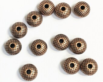 30 pcs of antiqued Copper Donut spacer beads 8x5mm, spacer beads, metal spacer beads, alloy spacer beads