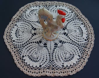 Knitted napkin, Lace napkin, Crochet lace doily, Table decoration.