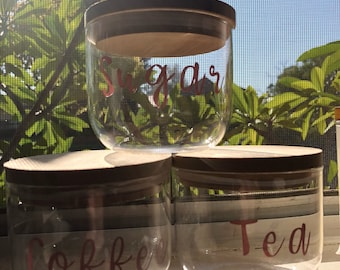 Coffee, Tea & Sugar Canisters