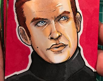 Journey to the Last Jedi Original Artist Sketch Card: General Hux