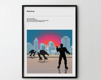 ROBOCOP 1987 Art Poster Print, Film Movie Art Gift ROBOCOP Action Movie Art