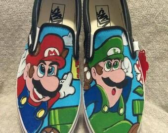 Super Mario Brothers 3  custom Vans