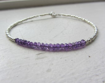 Amethyst Bracelet, Purple Amethyst Bracelet,Surfer Girl Jewelry, February Birthstone, February Birthday, Amethyst , Surfer Girl, Beach