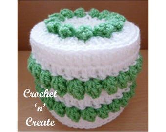 Crochet Popcorn Toilet Paper Cover Crochet Pattern (DOWNLOAD) CNC89