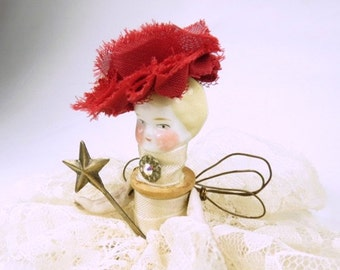 """Assemblage Angel """"Lacy Ivory""""  Assemblage Art Doll, Antique Doll Parts, Vintage Style Art Doll"""