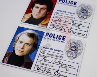Starsky and Hutch Police ID Badge, Cosplay Prop, Ken Hutchinson, David Starsky Bay City Police