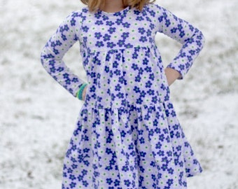Keria's Knit Dress PDF Pattern Sizes 6/12m to 8 girls