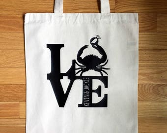 Baltimore Wedding- LOVE Canvas Tote- Gift Bag