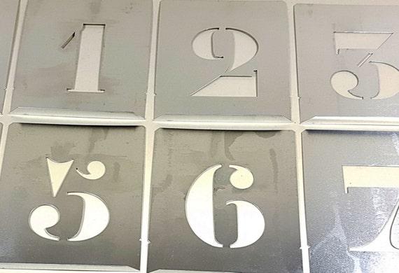Number Stencils New large 4 inch plete Set aluminum alphabet