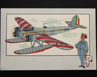 "Tintin. Chromo Tintin. See and know. Aviation. War 1939-1945. Series 3. NO. 5. Cant Z-507 ""Héron"". Italy. 1936."
